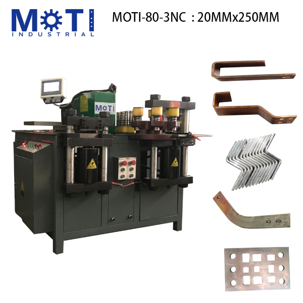 20x250MM, MOTI-80-3NC Busbar Machine
